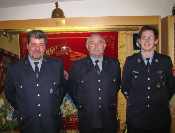 Die neuen Vertrauensmänner: Oliver Böse, Werner Langhans, Florian Illauer (von links)
