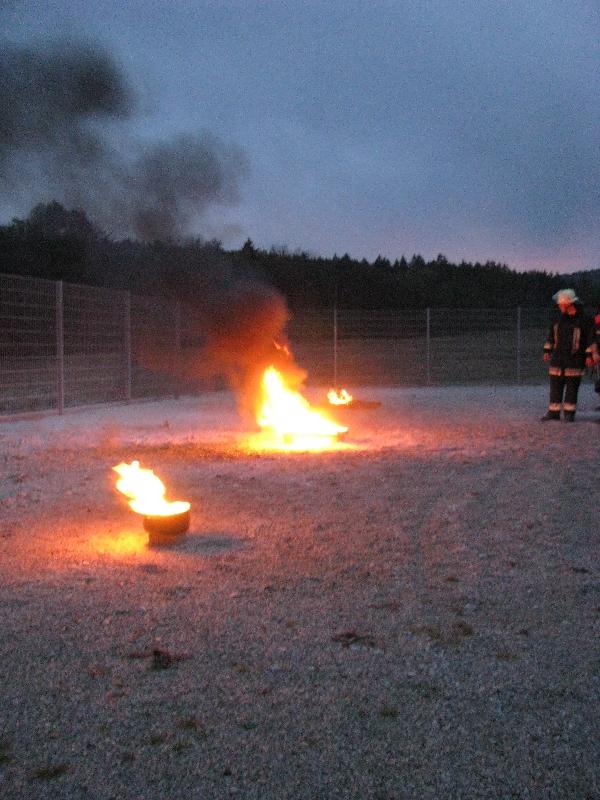 Die vorbereiteten Brandstellen