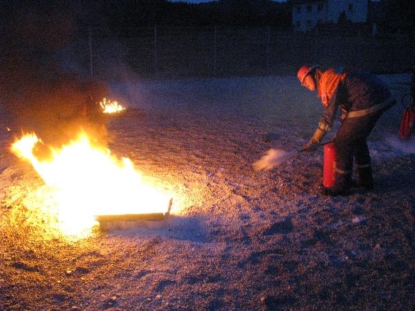 Umgang mit dem Feuerlöscher
